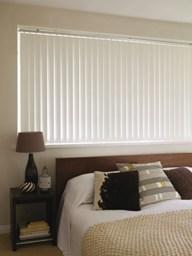 Example of Vertical Blind In Bedroom